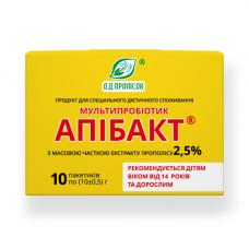 Мультипробіотик Апібакт 2.5% екстракту прополісу